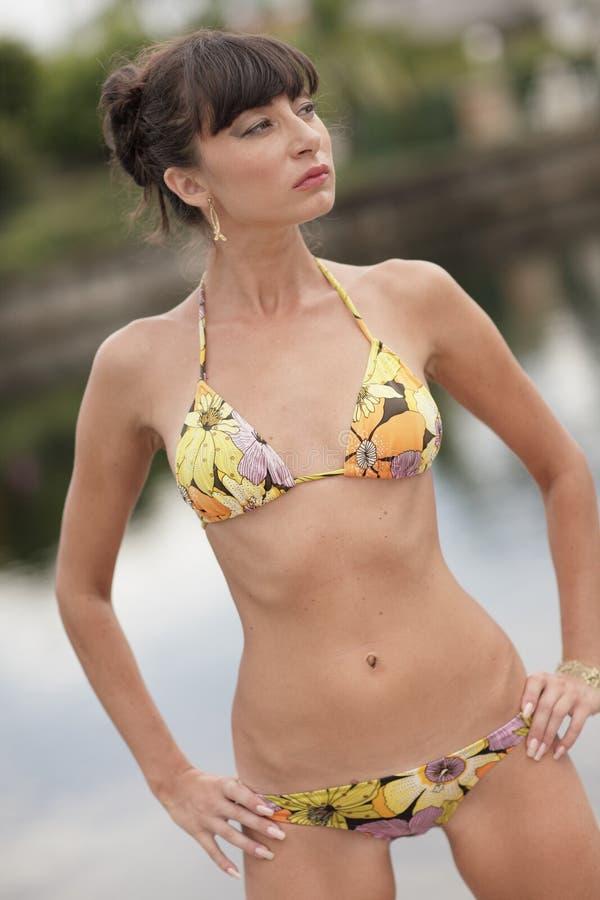 bikinimodell royaltyfri bild