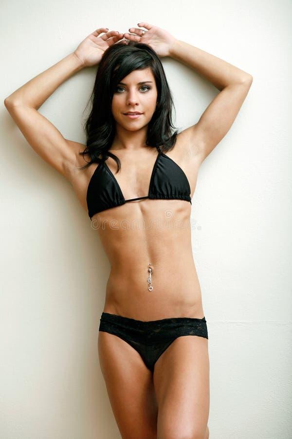 bikiniunderbyxoröverkant royaltyfri bild