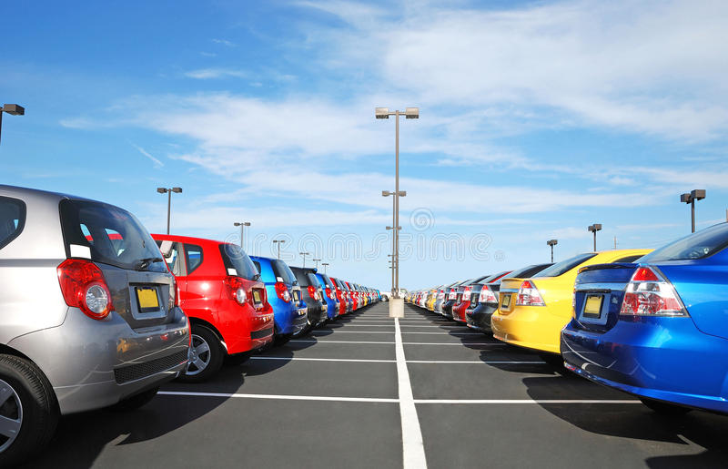 bilåterförsäljare royaltyfria foton