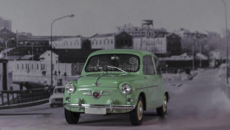Bil av 60-talspanjoren först som är utilitaristisk av spanjoren av medelklassen royaltyfri bild
