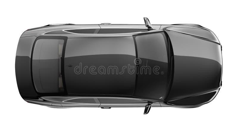 Bil- bästa sikt för svart kupé vektor illustrationer