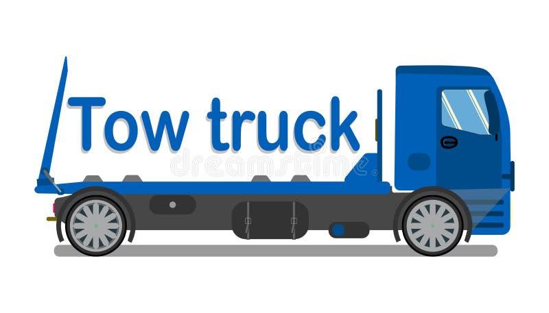 Bil Bogsera Företag logo, plan mall för skylt royaltyfri illustrationer