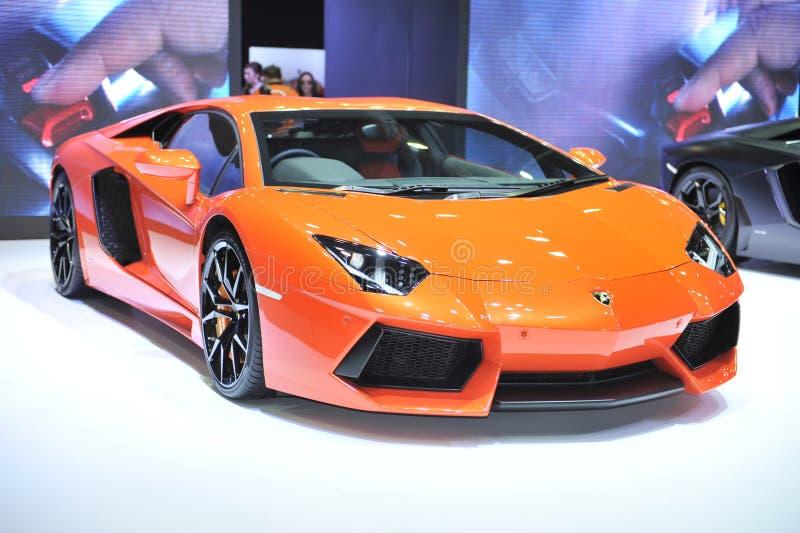 Bil för BANGKOK-MARCH 29 Lamborghini på den 36th Bangkok internationella motorshowen 2015 på mars 29, 2015 royaltyfri fotografi