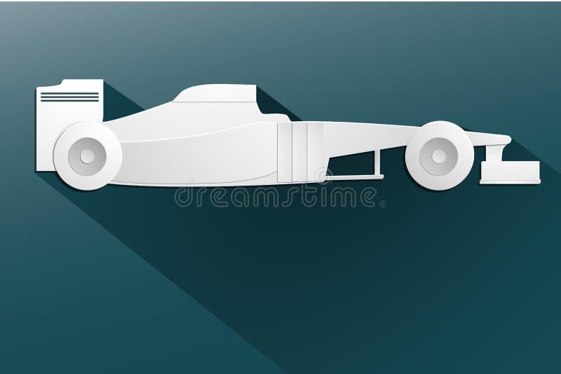 Bil för bil för formel F1 tävlings- världen royaltyfri illustrationer