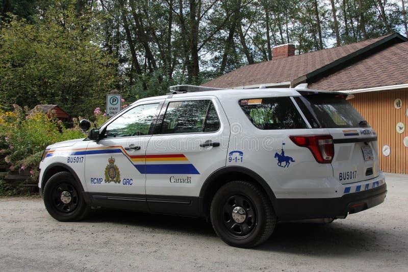 Bil för den Vancouver polisen RCMP arkivbild