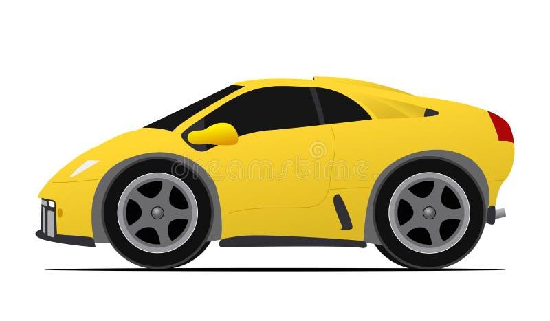 Bil för gul race stock illustrationer