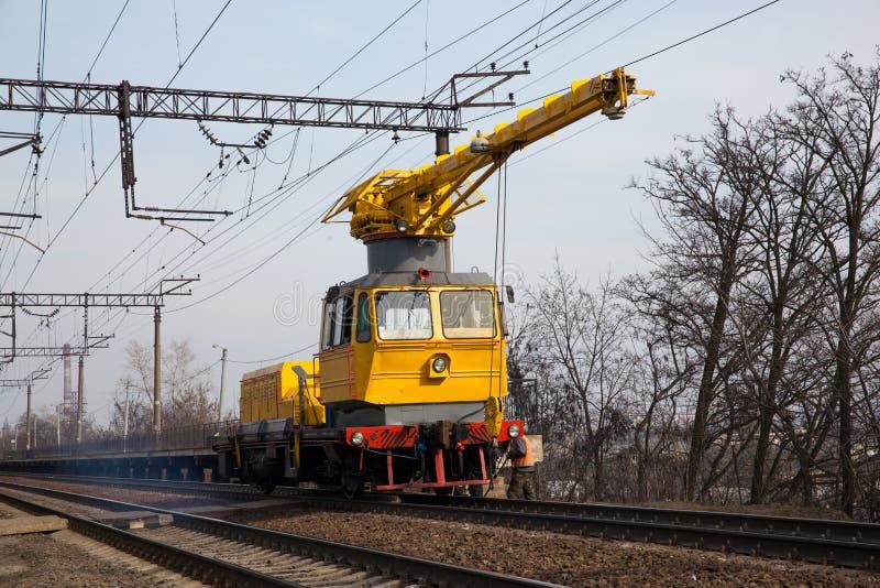 Bil för järnväg service royaltyfri bild