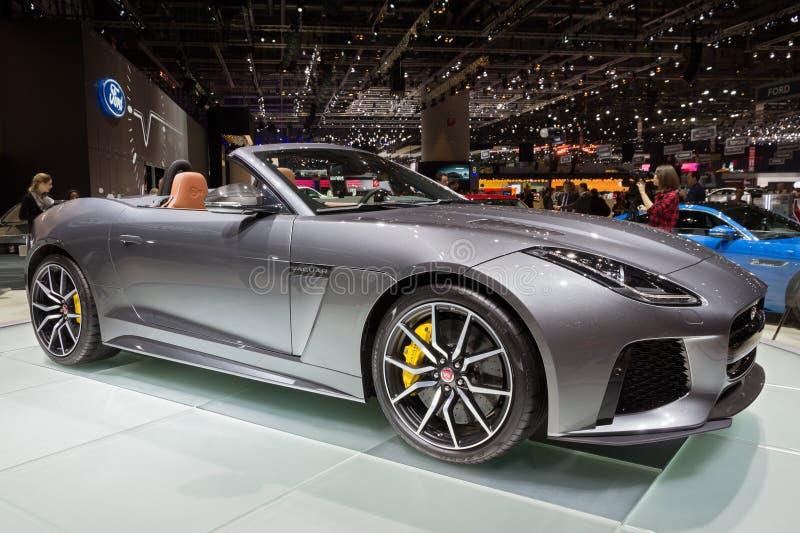 Bil 2017 för Jaguar F-typ SVR cabriolet arkivbild