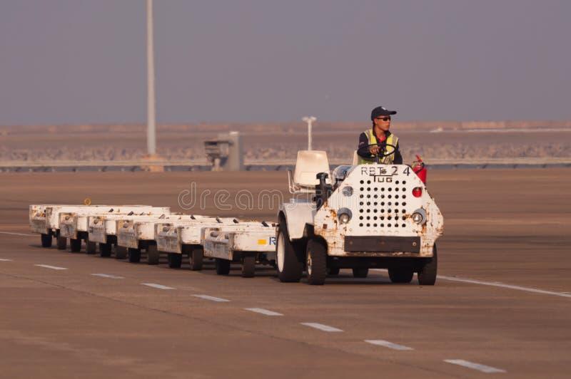 Bil för Macao flygplatsservice arkivfoto