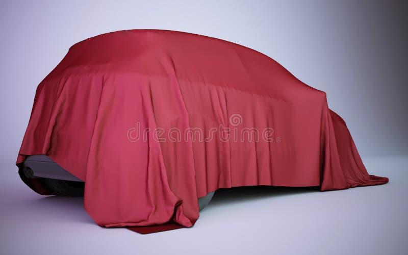 bil för tolkning som 3d täckas med röd sammet stock illustrationer