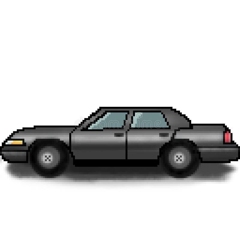 Bil för utdragen passagerare för bit för PIXEL 8 mångfärgad vektor illustrationer