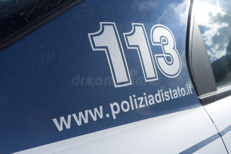 Bil f?r den italienareSudtirol polisen royaltyfri fotografi