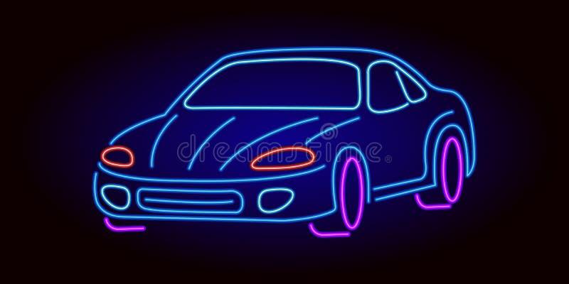 Bil f?r neontecken fotografering för bildbyråer