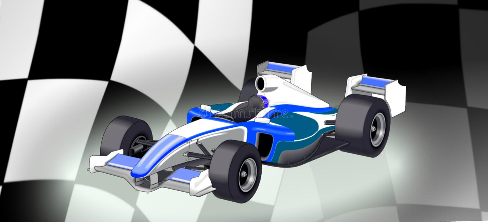 bil f1 vektor illustrationer