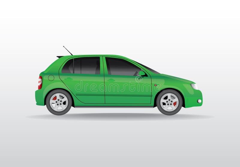 Bil från sidan stock illustrationer