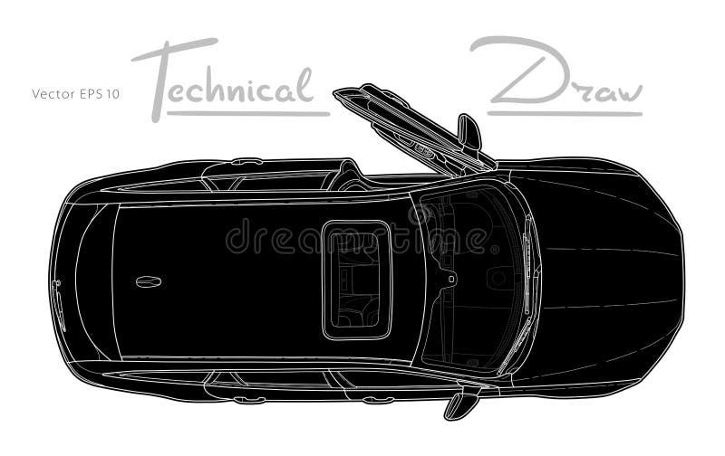 Bil fr?n vektor f?r b?sta sikt Plan designautomatisk stock illustrationer