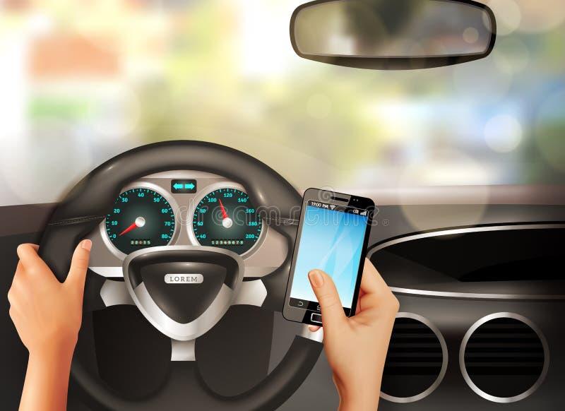 Bil inom realistiskt designbegrepp stock illustrationer