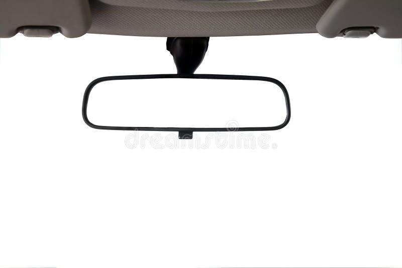bil isolerad bakre sikt för spegel arkivfoton