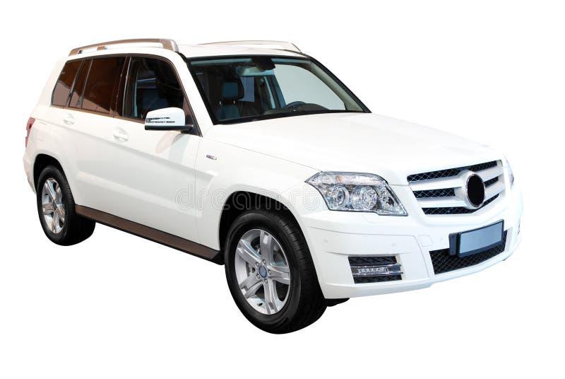 bil isolerad stark white för suv 4x4 royaltyfri fotografi