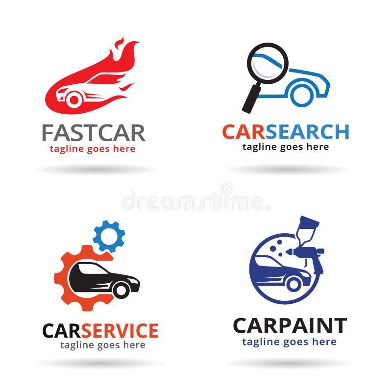 Bil Logo Template Design Vector stock illustrationer
