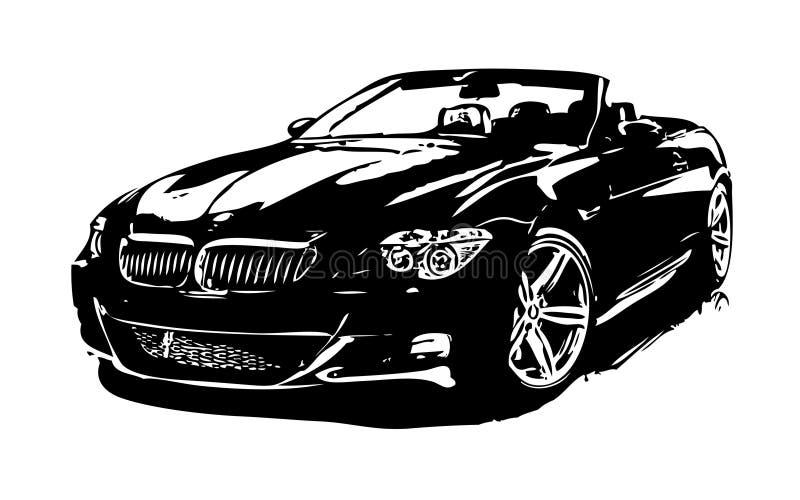 Bil nummer två på vit bakgrund stock illustrationer