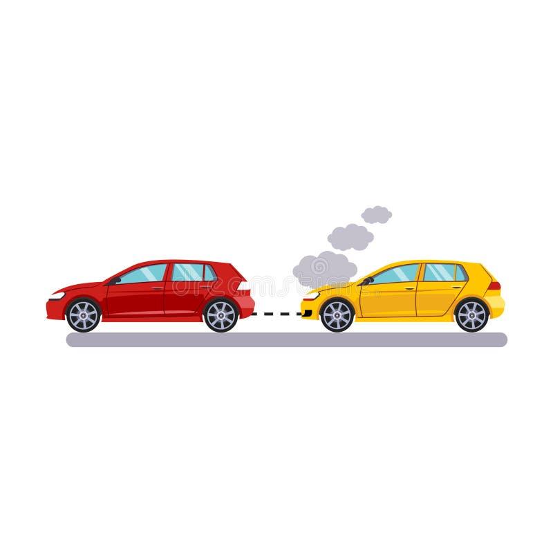 Bil och trans. Bogsera bilar också vektor för coreldrawillustration vektor illustrationer