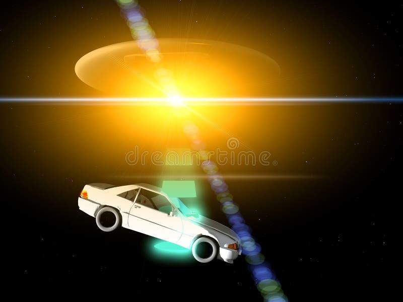 Bil och UFO 66 arkivbilder
