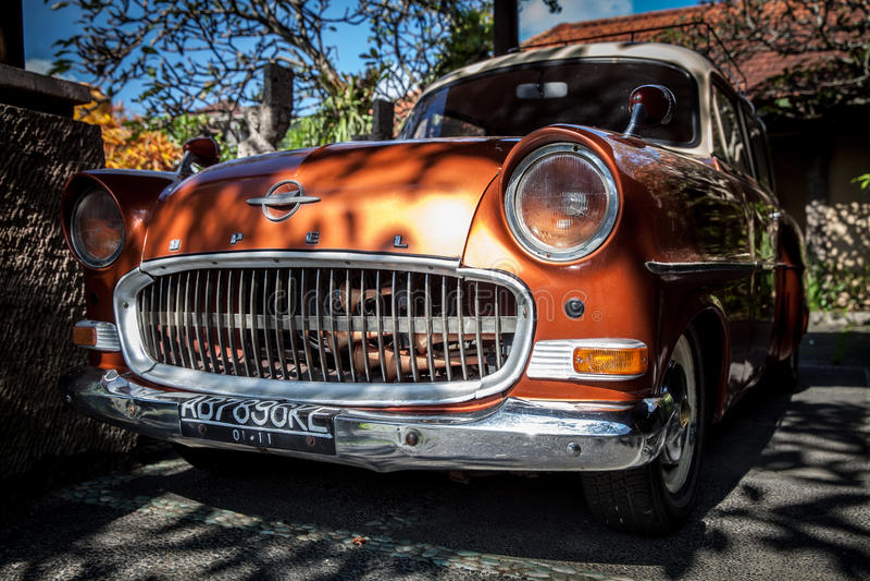 Bil OPEL för klassisk gammal bil för samling retro fotografering för bildbyråer
