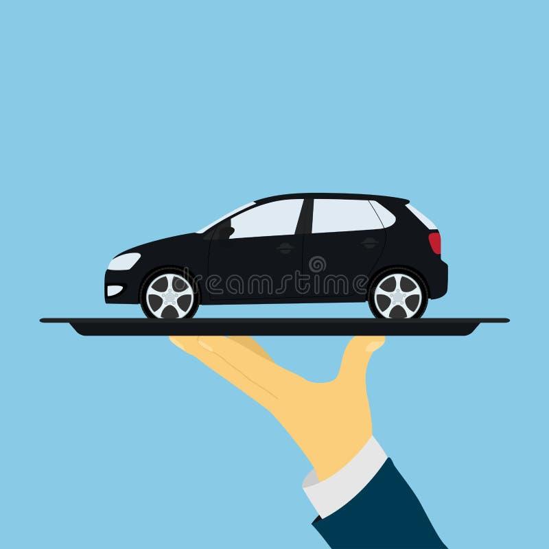 Bil på magasinet royaltyfri illustrationer