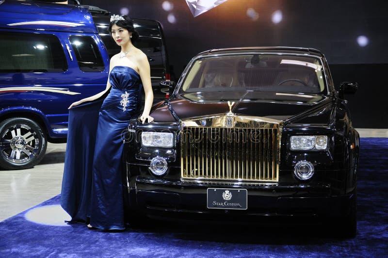 bil Rolls Royce royaltyfri foto