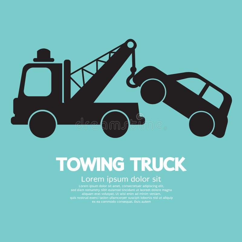 Bil som bogserar lastbilen vektor illustrationer
