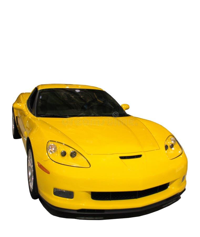 Download Bil Som Isoleras över Sportig Vit Yellow Fotografering för Bildbyråer - Bild av kraftigt, nytt: 510371