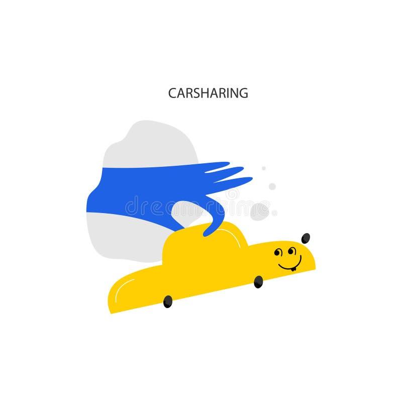 Bil som leasar den utdragna vektorillustrationen för hand vektor illustrationer