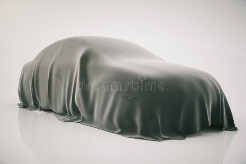 Bil som täckas med vail stock illustrationer