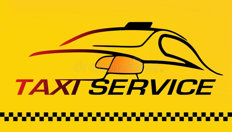 Bil taxiservicelogo royaltyfri illustrationer