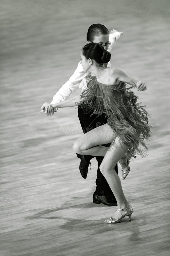 Bila Tserkva, Ucrania 22 de febrero de 2013 danc abierto del International fotos de archivo