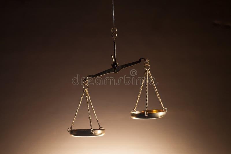 Bilancia della giustizia fotografia stock