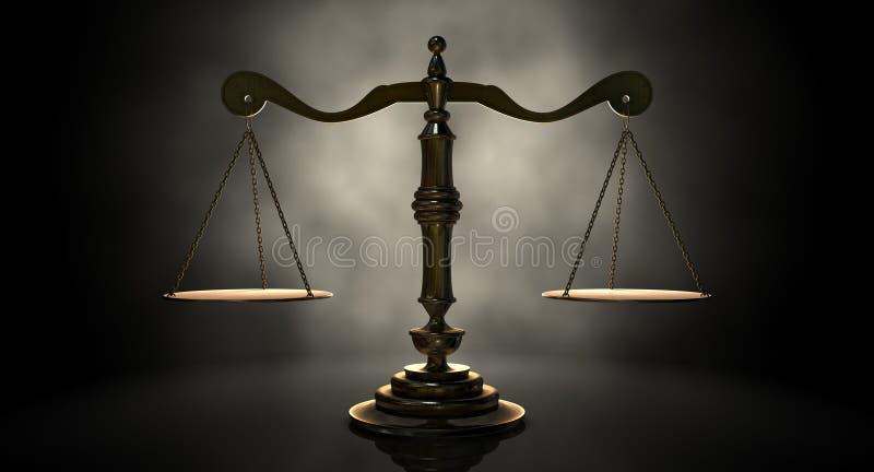 Bilancia della giustizia illustrazione vettoriale