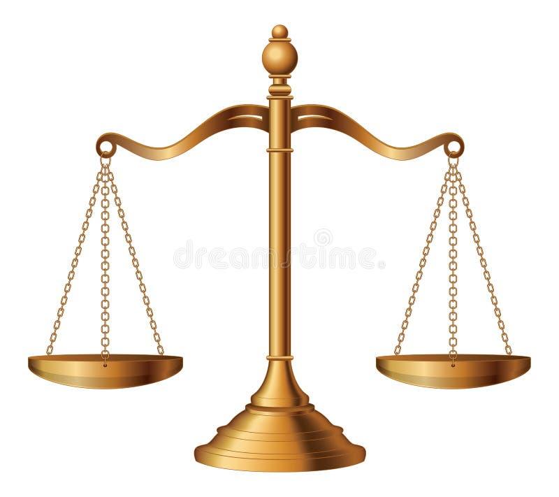 Bilancia della giustizia royalty illustrazione gratis