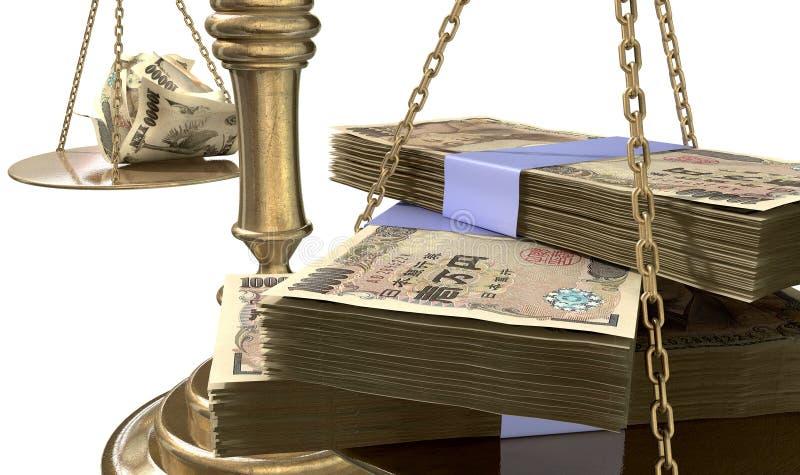 Bilancia della giustizia Income Gap Japan di diseguaglianza royalty illustrazione gratis