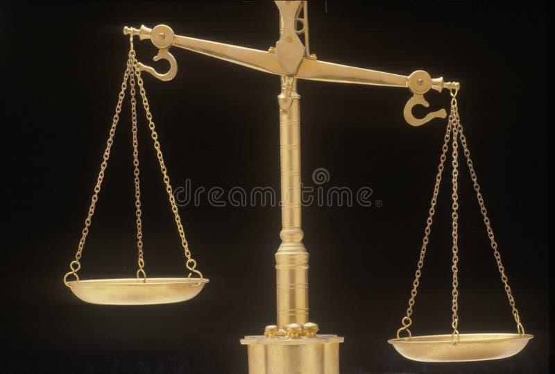 Bilancia della giustizia, rappresentando i sistemi giudiziari e le corti degli Stati Uniti fotografia stock
