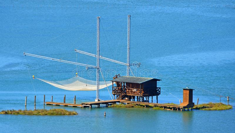 A Bilancia a traditional fishing structure stock photos