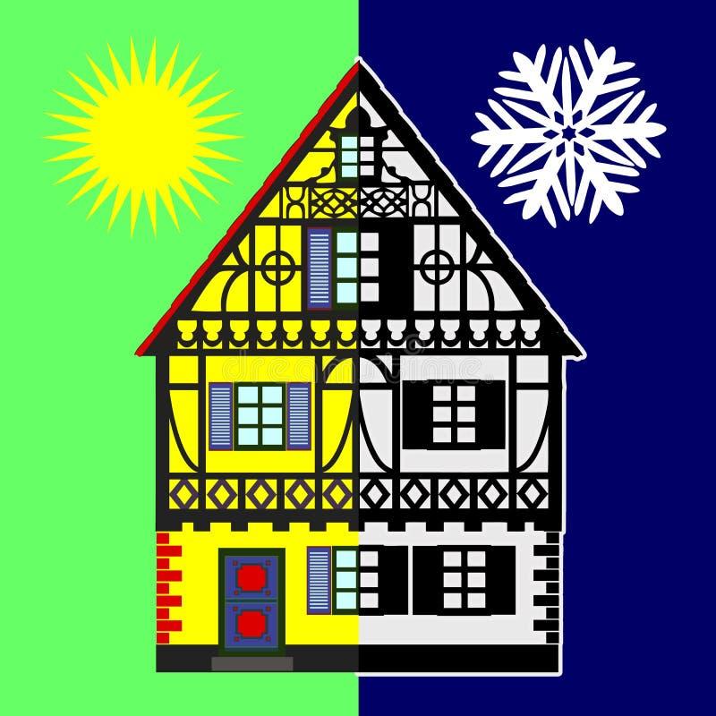 Bilancio energetico domestico illustrazione vettoriale