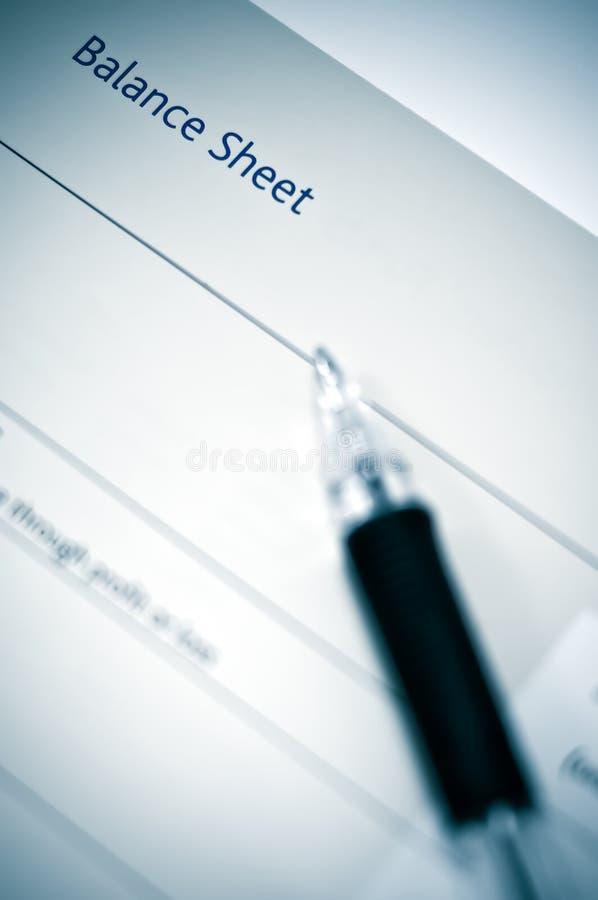 bilans księgowy obraz stock