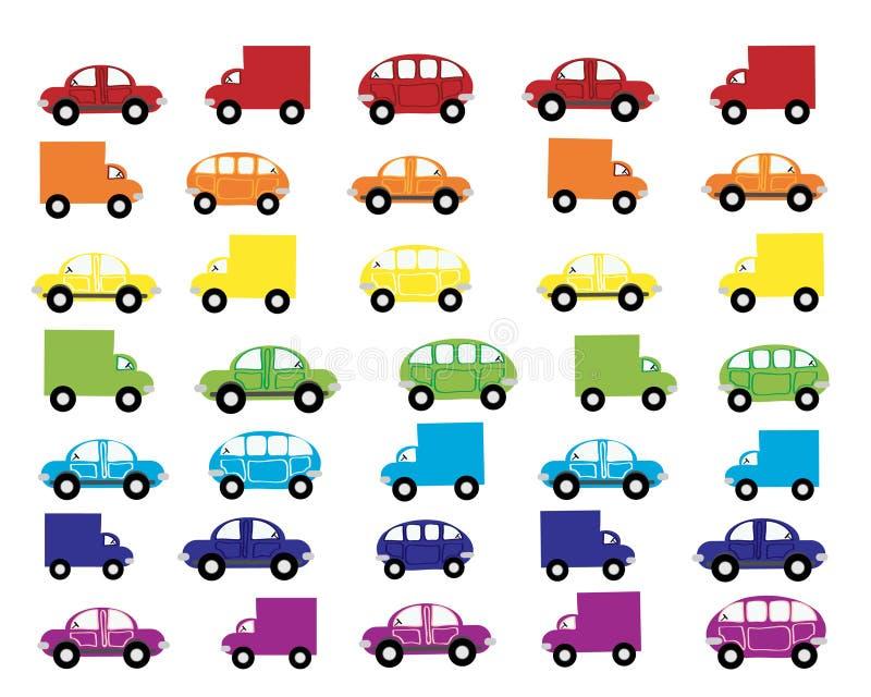 bilar vektor illustrationer