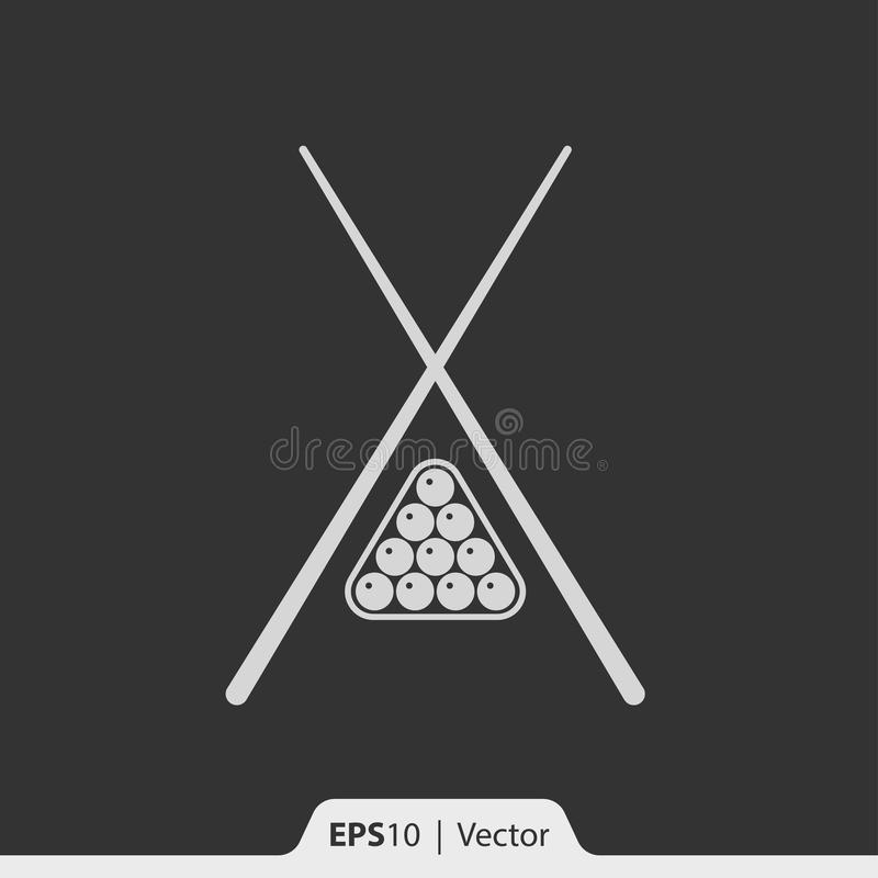 Bilardowa ikona dla sieci i wiszącej ozdoby royalty ilustracja