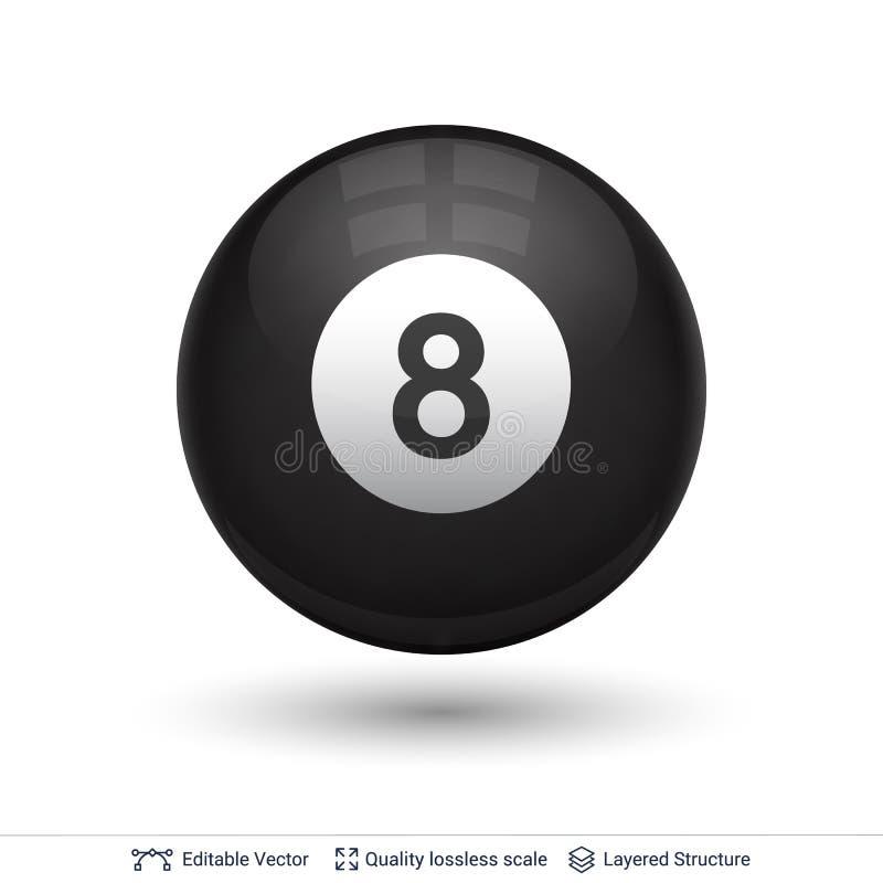 Bilardowa snookeru basenu piłka z liczbą ilustracji
