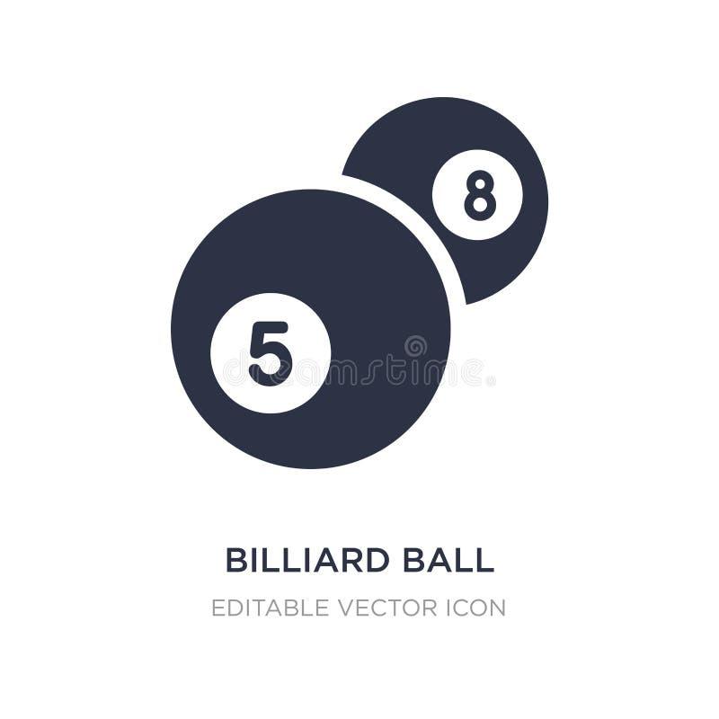 bilardowej piłki ikona na białym tle Prosta element ilustracja od hazardu pojęcia ilustracja wektor