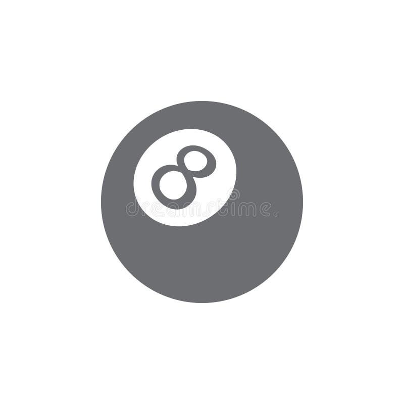 Bilardowej piłki ikona Prosta element ilustracja bilardowej piłki symbolu projekta szablon Może używać dla sieci i wiszącej ozdob ilustracji