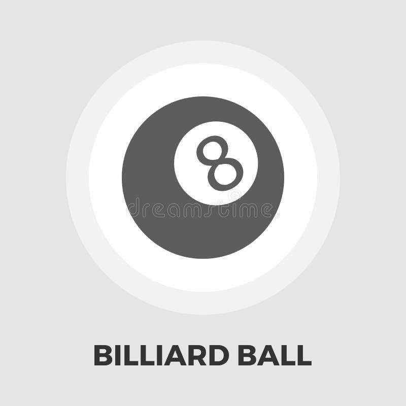 Bilardowej piłki mieszkania ikona ilustracja wektor